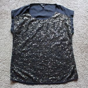 Express gold sequin blouse Size S
